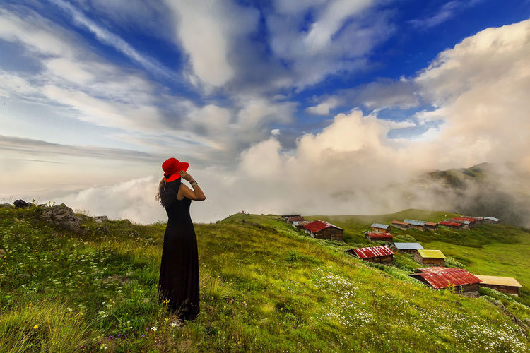 chalet Adventure Carefree Chalet Cloud Cloud - Sky Cloudscape Cloudy Dramatic Sky Escapism Getting Away From It All Landscape Moody Sky Outdoors Overcast Pokutyaylasi Recreational Pursuit Red Scenics Silhouette Sky Sunset Tranquil Scene Tranquility Turkey Yellow