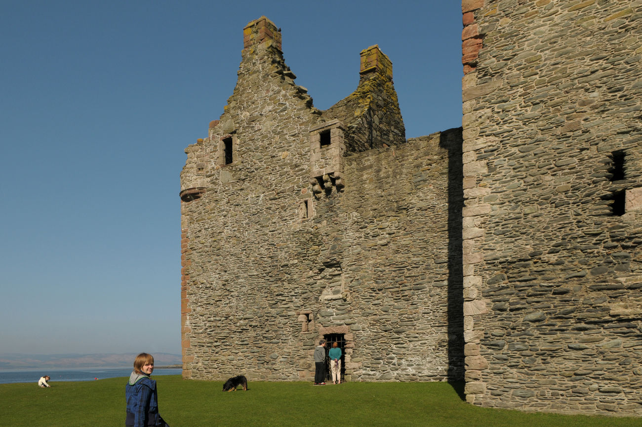 Ancient Architecture Arran  Built Structure Castle Clear Sky Day Grass History Men Nature Outdoors People Real People Scotland Sky Travel Destinations