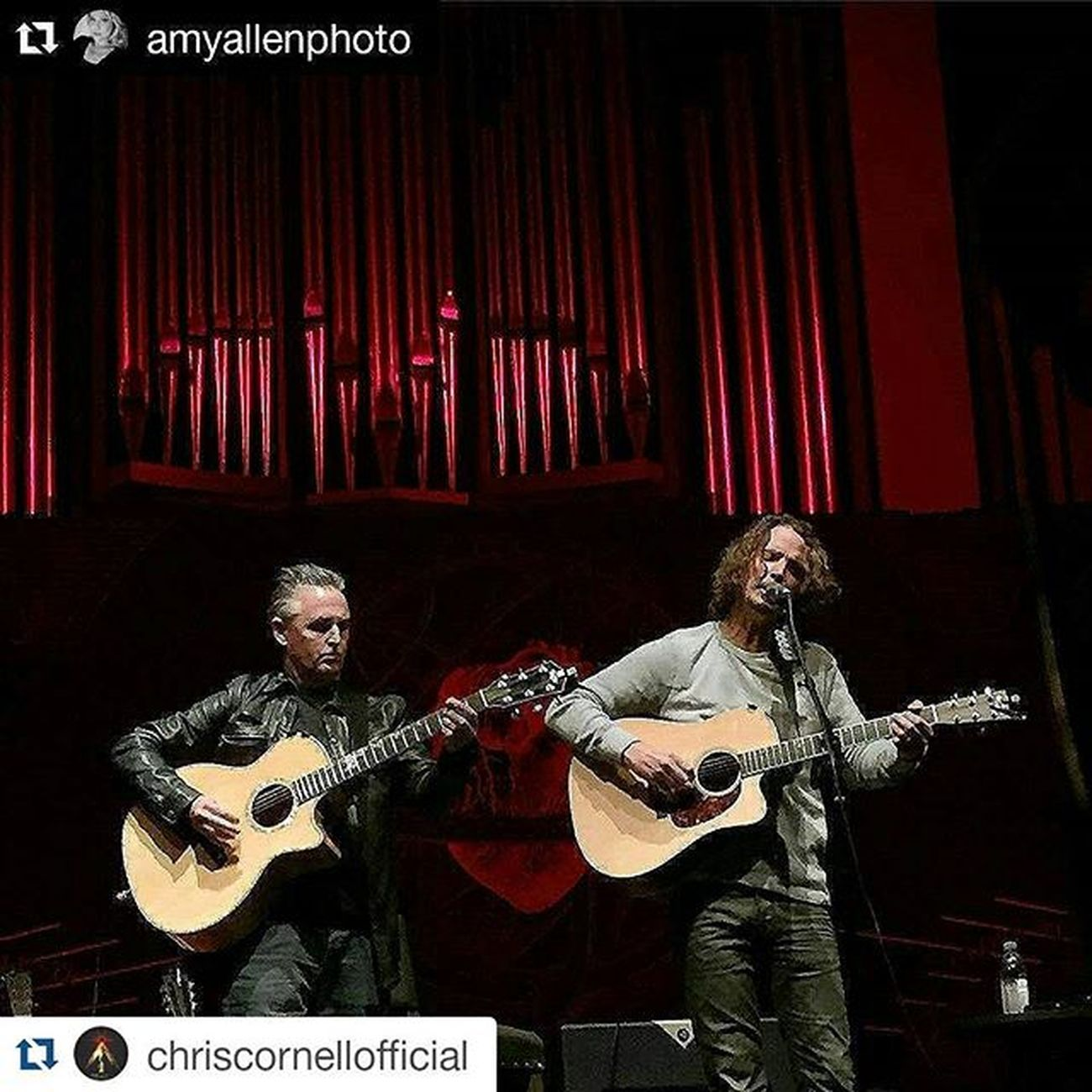 Photographic evidence that all is right with the world Repost @chriscornellofficial with @repostapp ・・・ Repost @amyallenphoto with @repostapp ・・・ Chriscornell @chriscornellofficial @benaroyahall Mikemccready @mikemccreadyfans @pearljam