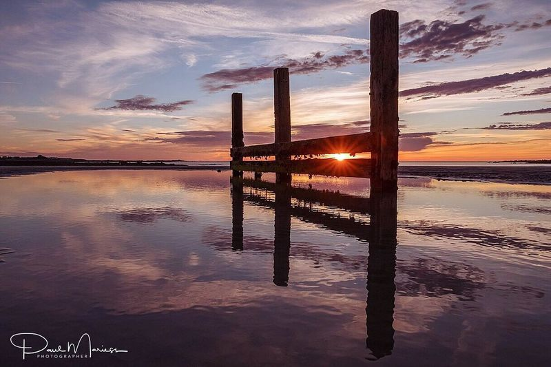 Sunset Reflected.. Sunset Cloud - Sky Reflection Tranquility Beauty In Nature Landscape Beach Sea And Sky Eye4photography  Landscape_Collection Eyem Best Shots Guernsey Sunset_collection Sunset Silhouettes Sunset And Clouds  Sky Landscape_photography