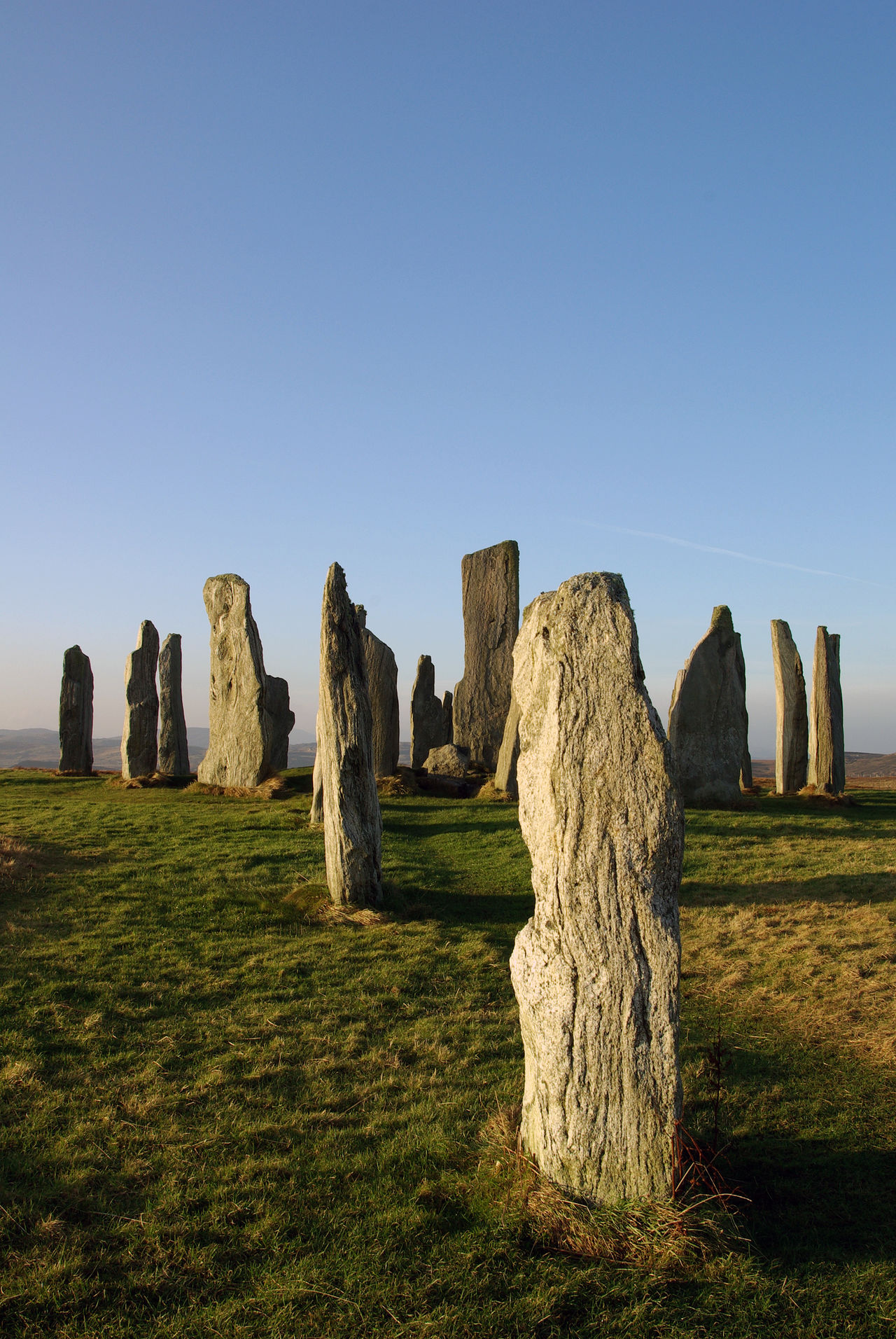 The standing stones Of Callanish Clear Sky Outdoors No People History Sacred Places Ancient Civilization Old Religions Travel Destinations Isle Of Lewis Outer Hebrides