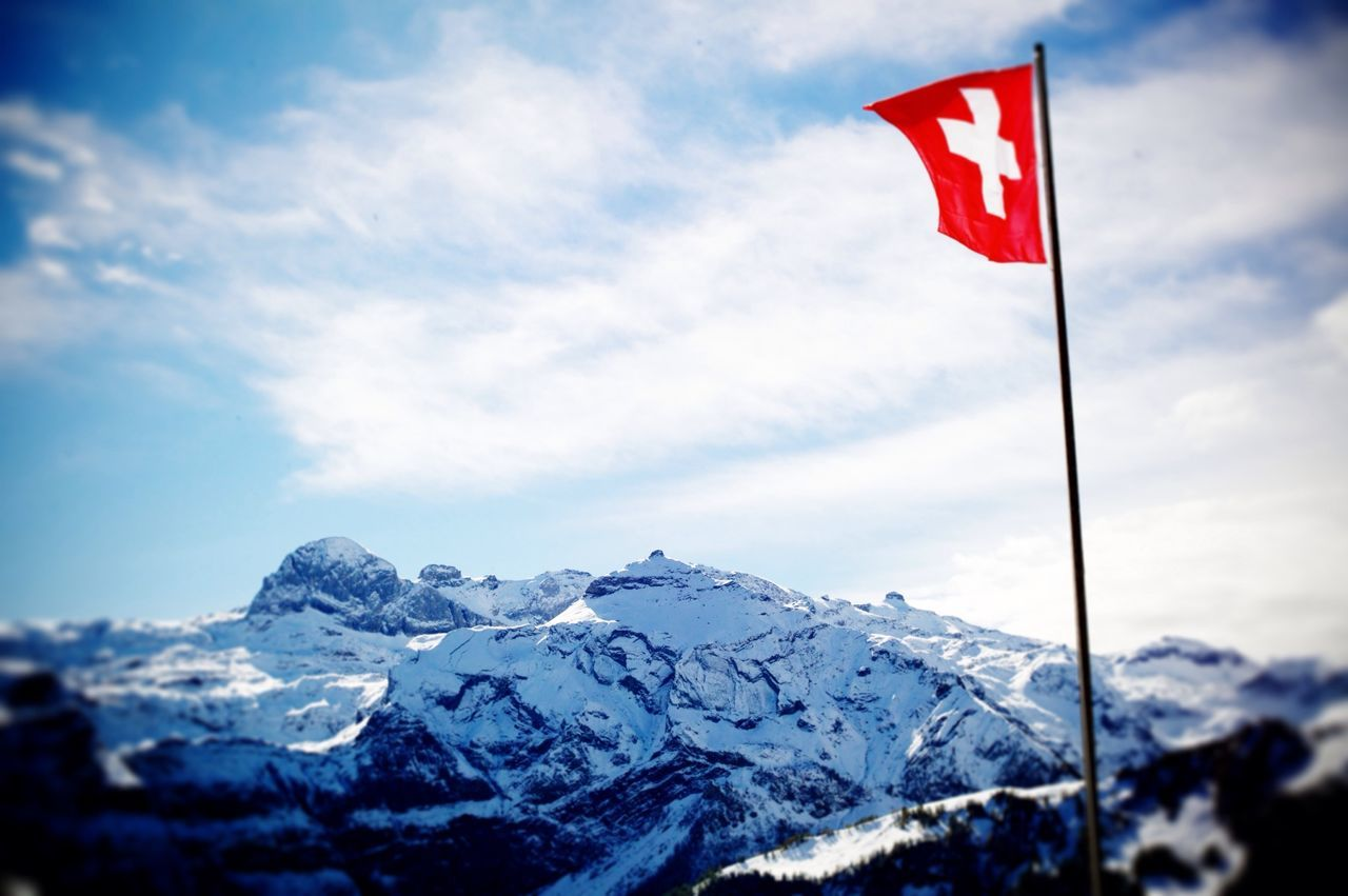 Flag Travel Switzerland Mountains