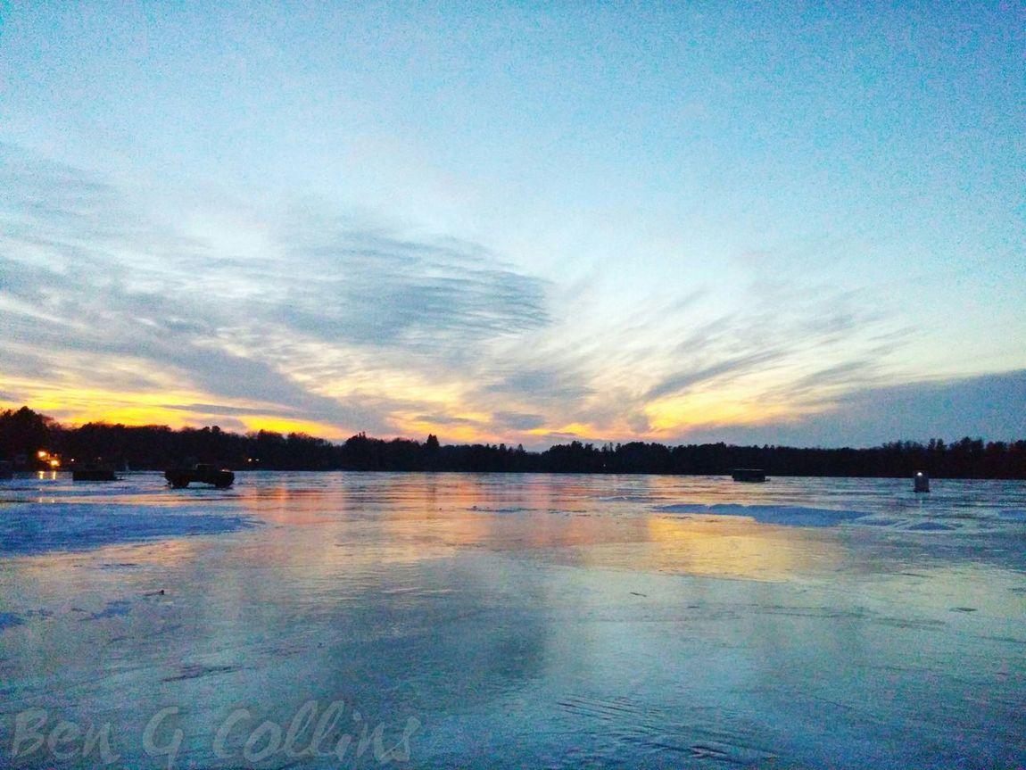 Icefishing Relaxing Godsbeauty Sunsetstalker a:10502329] Sunset Nature Nofilter Ilovesunrisesandsunsets Sunset #sun #clouds #skylovers #sky #nature #beautifulinnature #naturalbeauty #photography #landscape