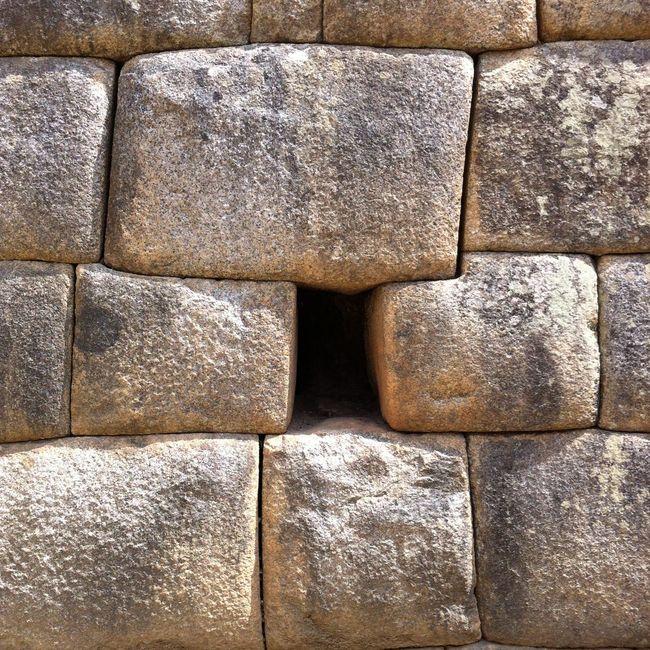 Geometric Shapes Stone Wall Macchu Picchu