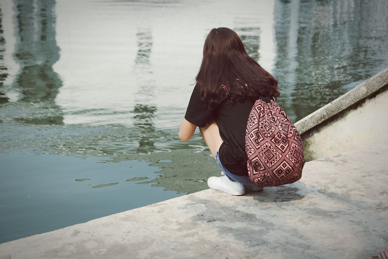 One Woman Only Water Women People People And Places Moments Hanoian Vietnamphotography One Person
