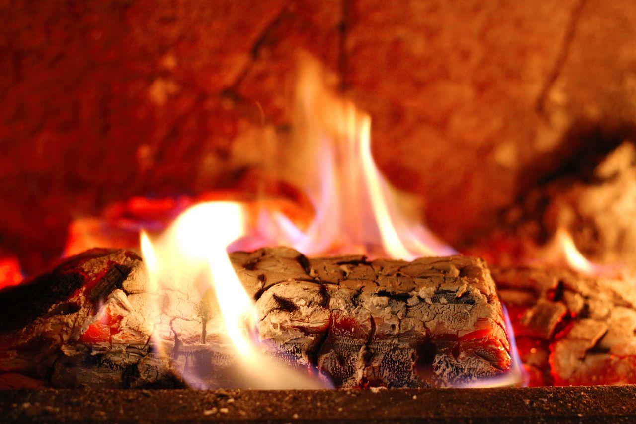 fire - natural phenomenon, flame, burning, heat - temperature, glowing, no people, close-up, indoors, night, illuminated