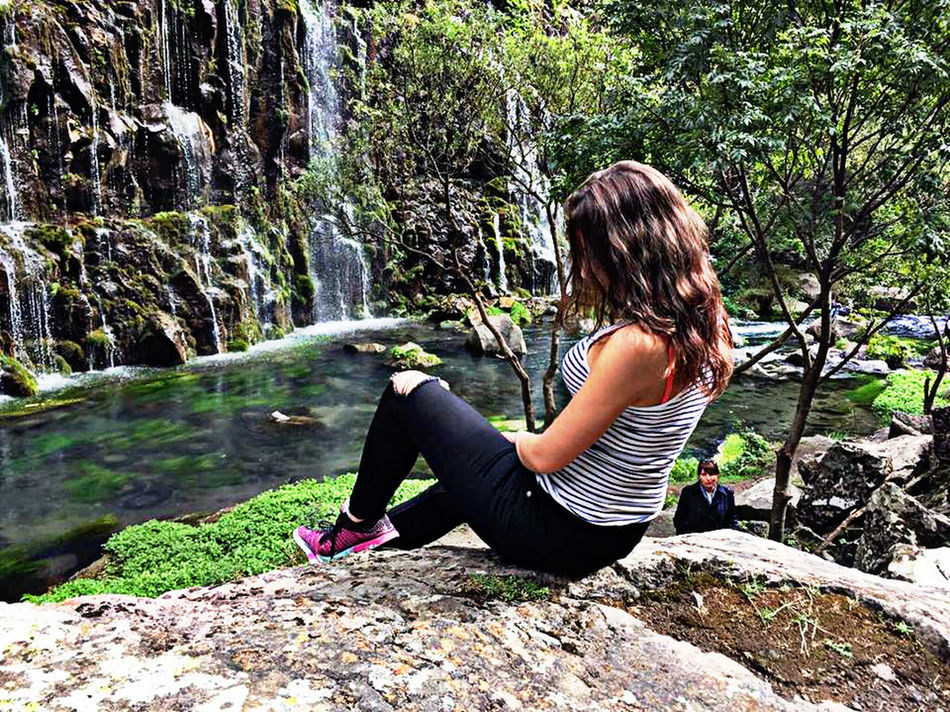 Adult Adults Only Beauty In Nature Canions Contemplation Day Forest Full Length Girl Nature One Person One Woman Only One Young Woman Only Only Women Outdoors People Silence Sitting Tree Water Women Young Adult Young Women