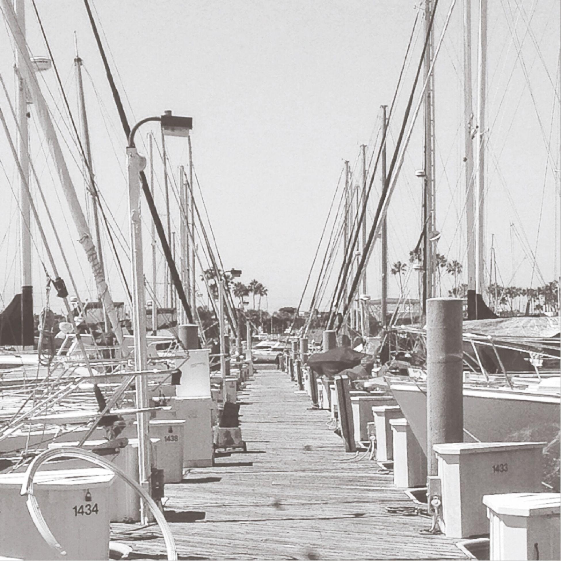 Long Beach Marina Blackandwhite Skipbleach Vscocam
