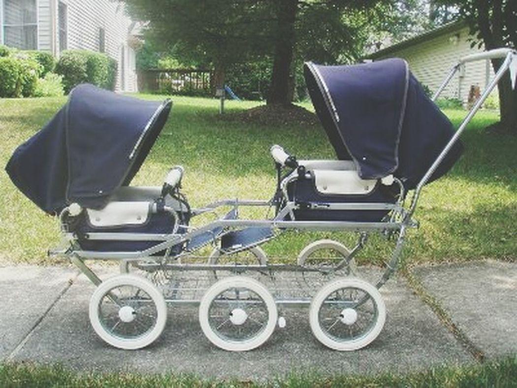 Double Pushchair Antique Stroller Old Pram