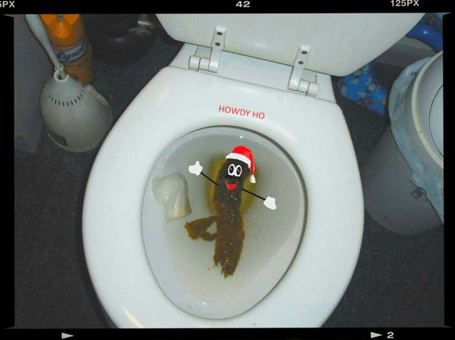 Toilette Art Pooping That's Me Mr Hankey