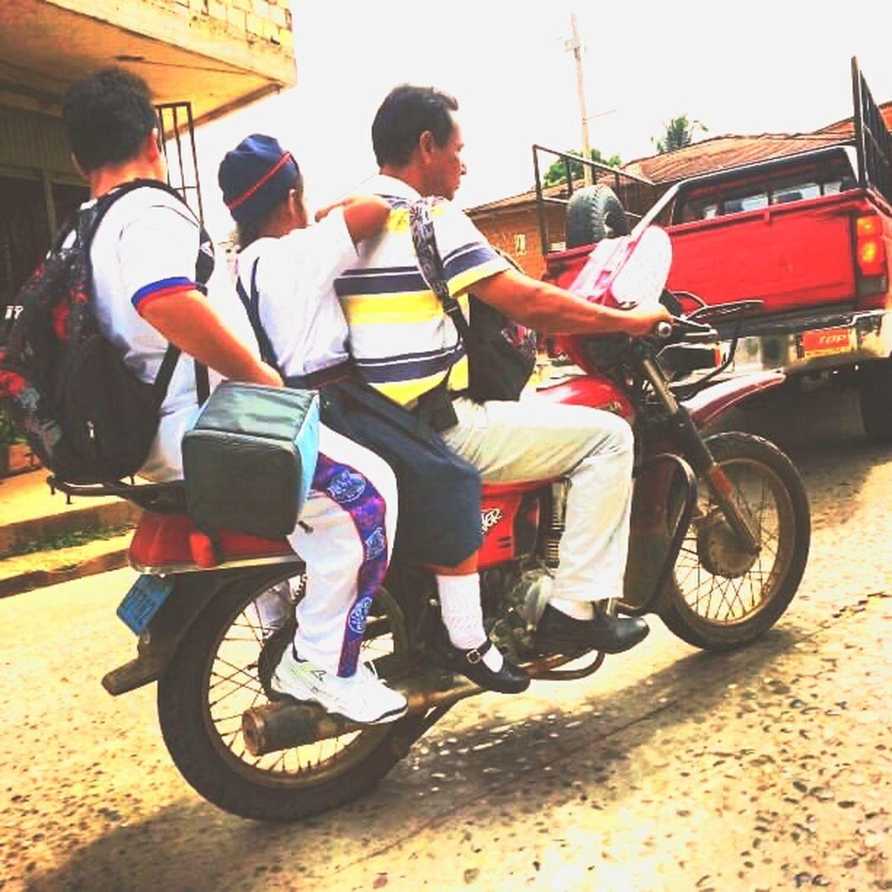 You got to to what you got to do Tarapoto Peru Family Motorcyle