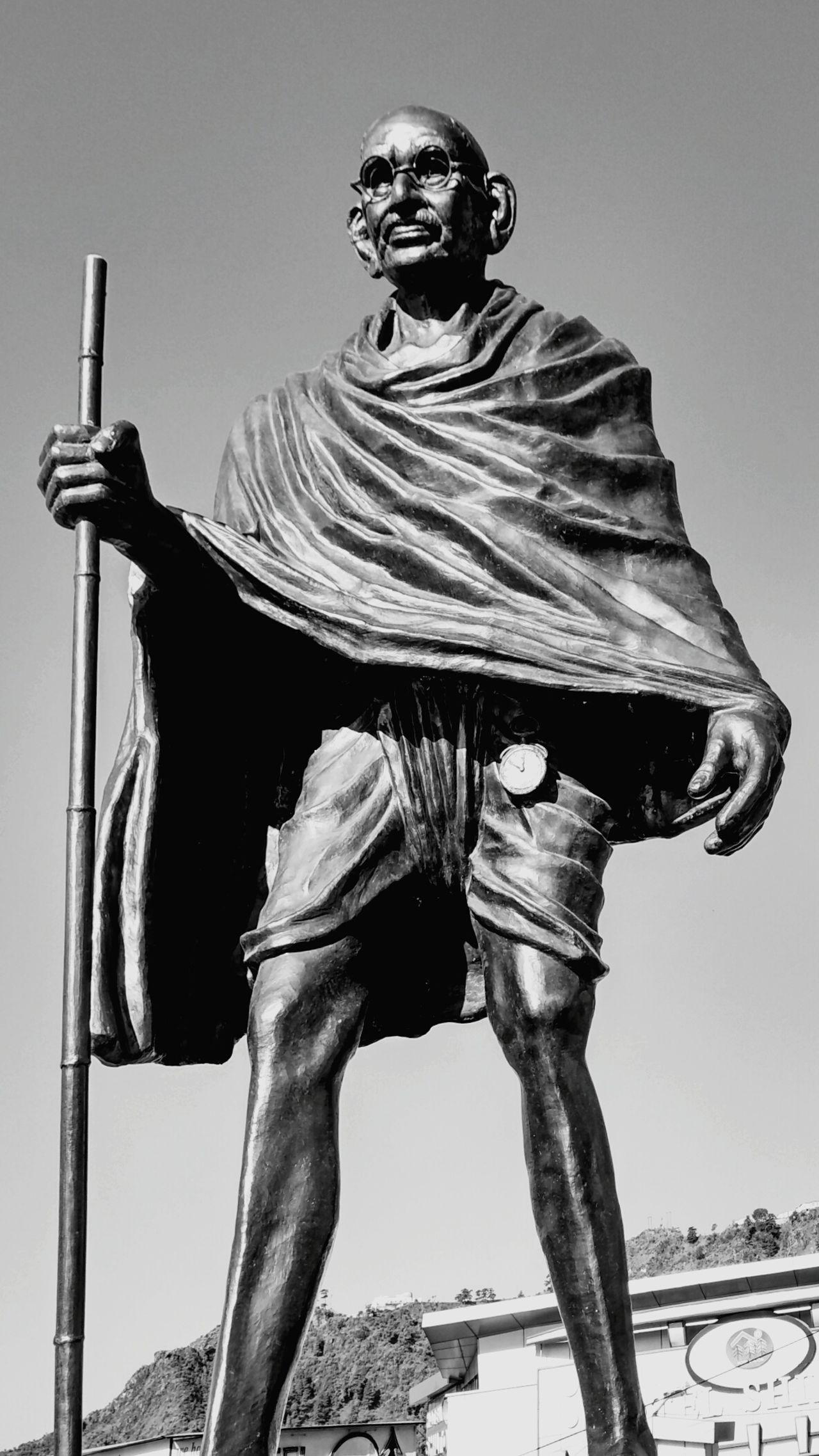 Bapu Gandhi Statue Mussoorie Gandhi Monochrome Photography