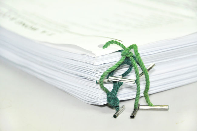 binded documents Bind Bureaucracy File Folder Form Messy Old Paper Paperwork Pile Proposition Report Stack Yellow