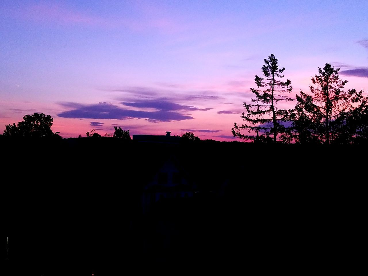 Sunset Silhouette Tree Sky Cloud - Sky Tranquility Outdoors Beauty In Nature Landscape Newhampshire Newhampshirephotography Concord Concord NH Tree Nature Dusk Sky Dusk Dusk In The City 603 Beauty In Nature