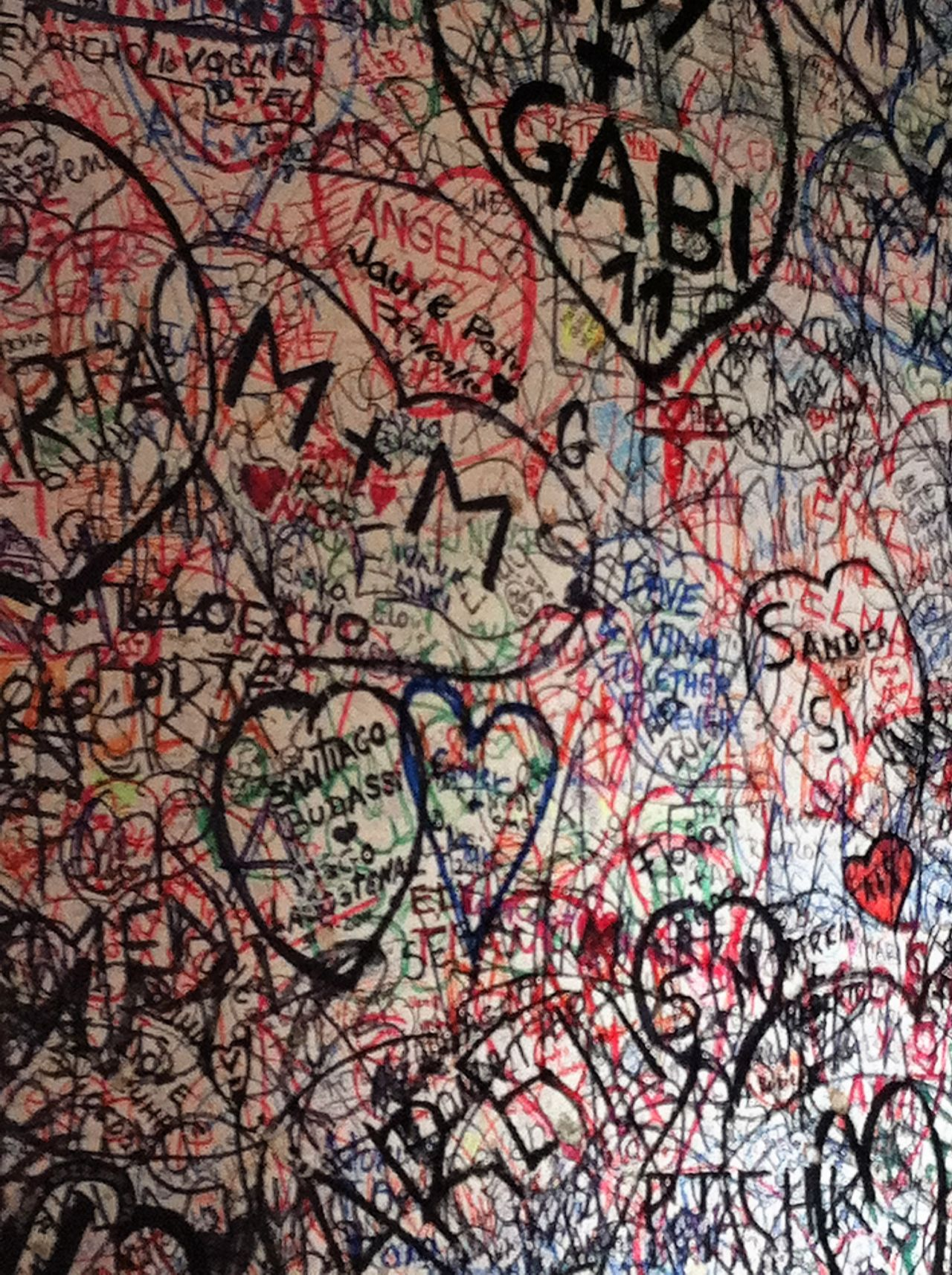 Full Frame Graffiti Love Multi Colored Pattern Romance Ti Amo