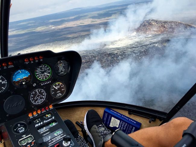 Adventure Club Helicopter Pilot Hawaii Volcanoes National Park Aerial View Hawaii Big Island Hawaii