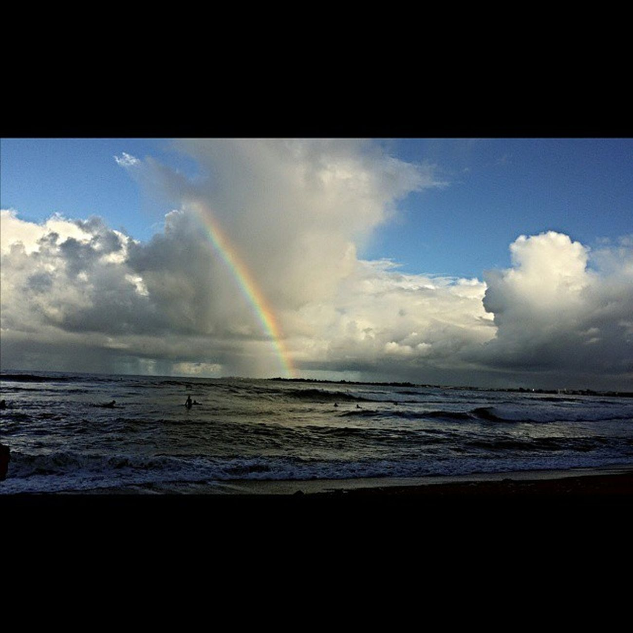 Mahalo ke akua another beautiful day! Appreciation HiLife Honolii Rainbows Surf Simple Things Hawaii 808love