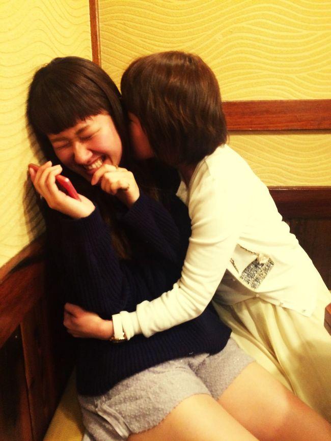 😂💟 Girls Dinner Night Friend Wow!! Hug Love ♥ やきとり 大吉