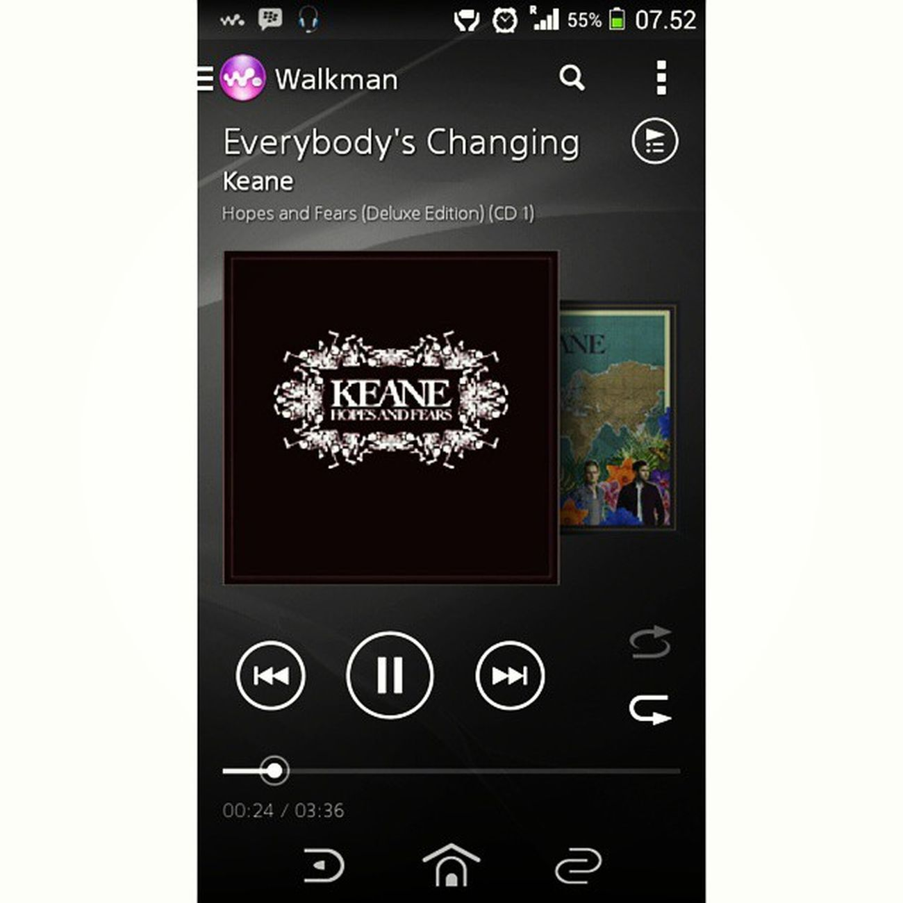 @keaneofficial start day ?✴??? Keane EverybodysChanging HopeAndFears Deluxe walkman instamusic bestsongever goodmorning morning startday with music