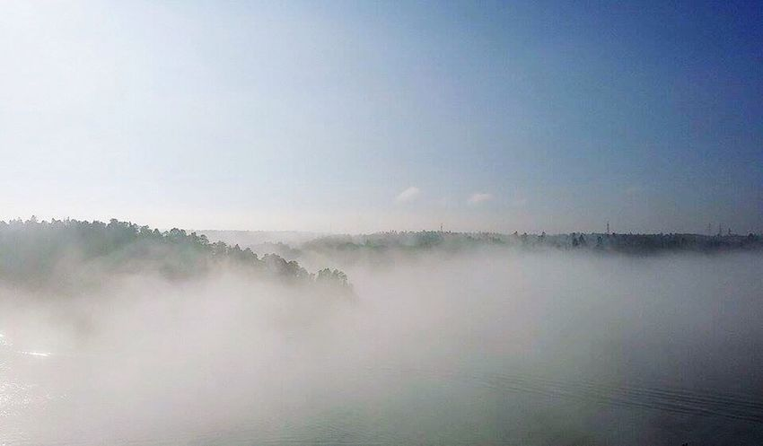 Nature Scenics Fog Tranquility Water Beauty In Nature Tranquil Scene Hazy  No People Landscape Mist Outdoors Day Sky