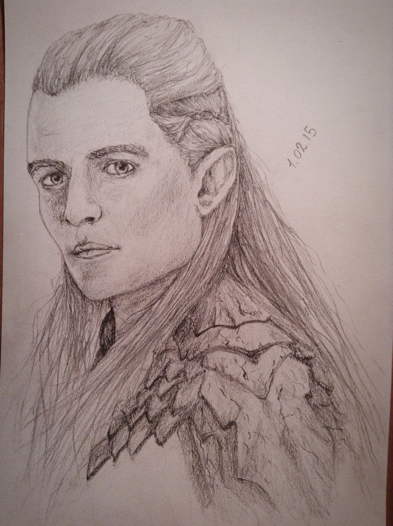?Just new pirtrait?✏️. Cute Pencil Drawing Portrait Drawing Art Fanart Legolas Hobbit Exciting, Orlandobloom