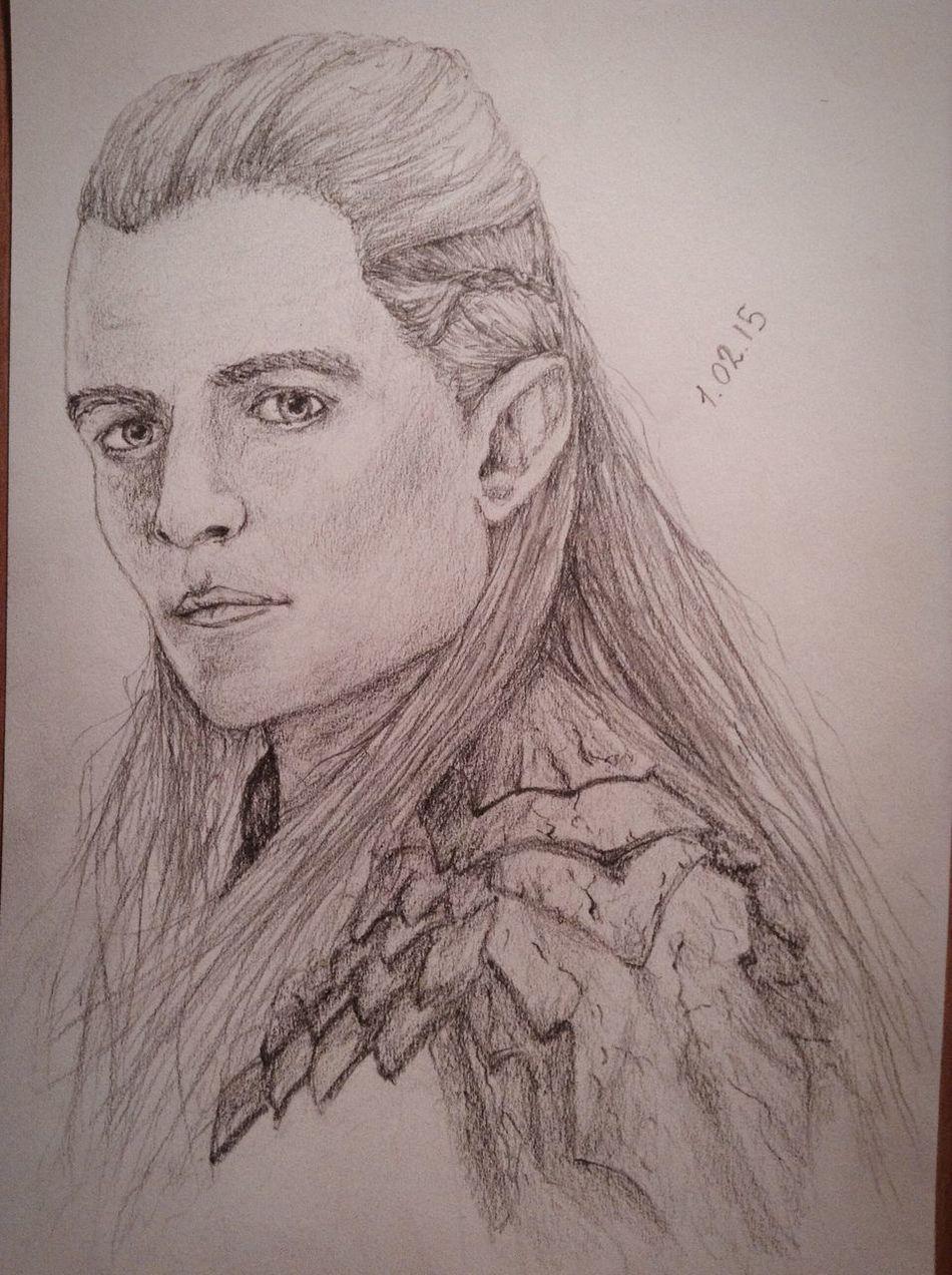 ?Just new pirtrait?✏️. Cute Pencil Drawing Portrait Drawing Art Fanart Legolas Hobbit Exciting, Orlandobloom