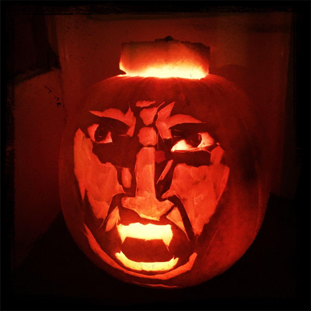Halloween Pumpkin Carving Darth Maul