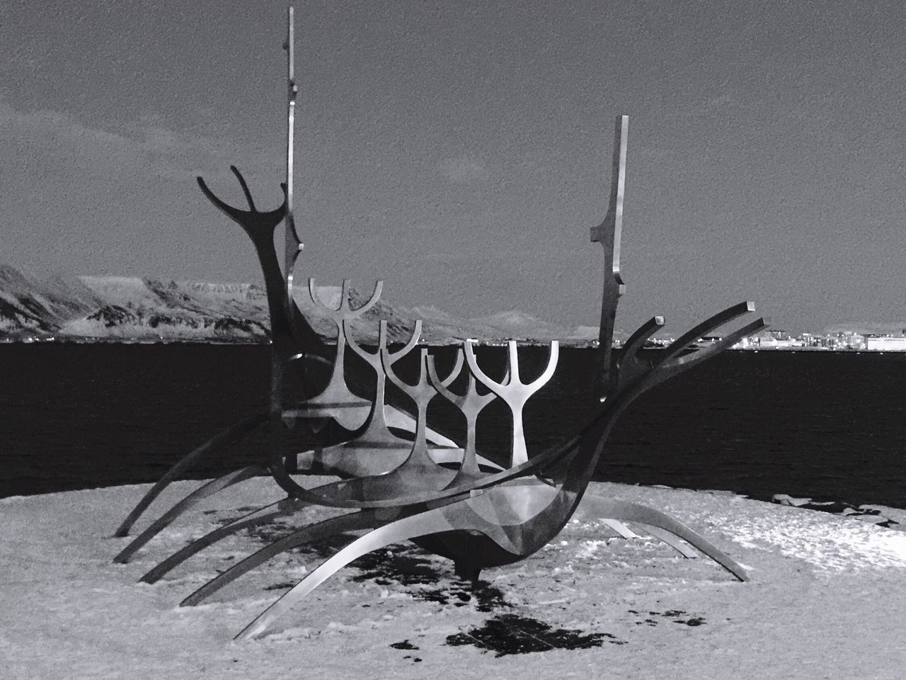 Sea Outdoors Sculpture The Sun Voyager Travel