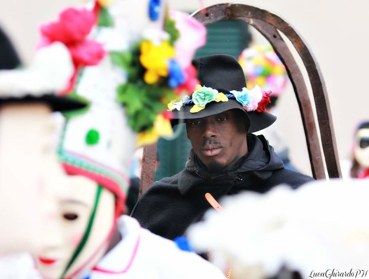 Carnival Crowds And Details One Man Only Adults Only Headdress Only Men One Person Adult Traditional Clothing Headwear People Young Adult Men Outdoors Day Performance Portrait