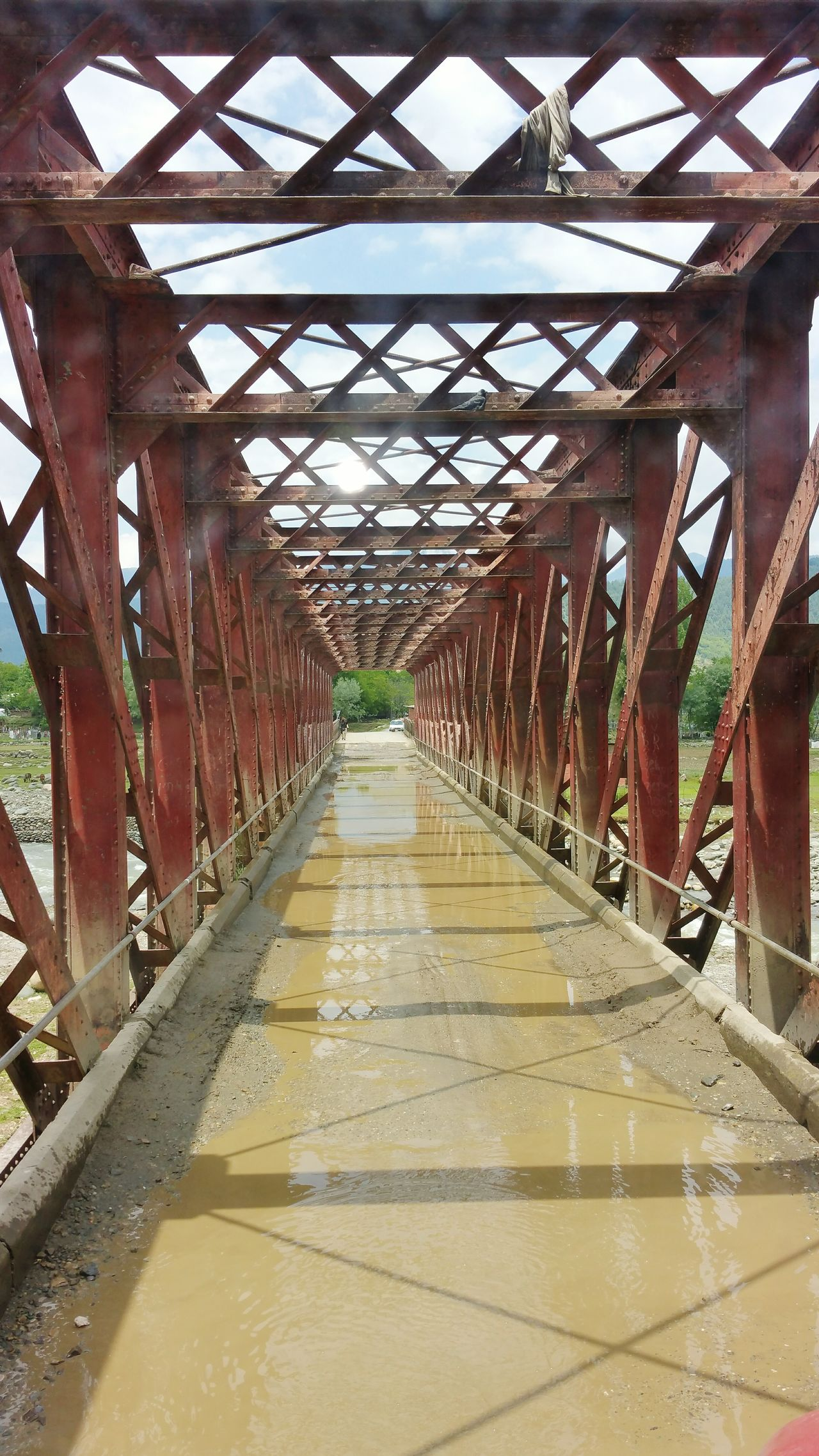 Kashmir Roadway Bridge Iron Bridge Tunnel Handwara Kupwara Tarathpora Kashmir Roads Road