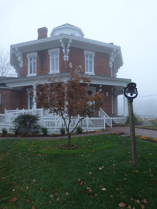 Morning fog at the Octagon house... Building Exterior Built Structure Architecture Outdoors No People Autumn Showcase December EyeEm Best Shots Autumn🍁🍁🍁 No Filter No Edit The Purist (no Edit, No Filter) Nature_collection EyeEm Nature_collection Beauty In Nature Historicalplaces
