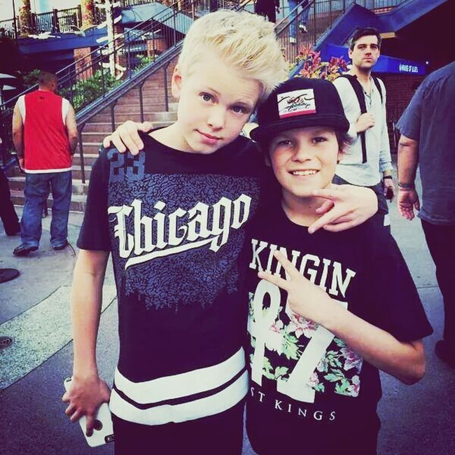 Carson Lueders and sweet Hayden