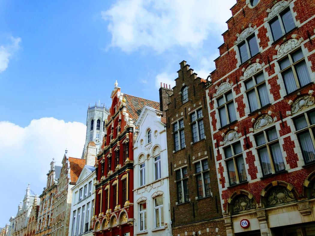 Architecture Window Low Angle View History Building Exterior Built Structure Sky No People City Outdoors Day Belgium Flamand Architecture Low Angle View Brugges Vacations Travel Travel Destinations Tourism Architecture Downtown District Cityscape Flamand Brugge City