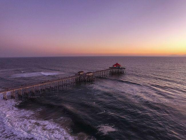 Huntington Beach Pier Infinitesky Dronephotography California Ocean Natural Beauty Drone  Sky Aerial Shot Beautiful Day Great Outdoors Eyeem Awards 2016 - Outdoors Infiniteskyaerials Beach Life