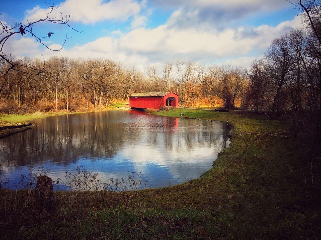 Reflection Bridge Pond Reflections Park Life