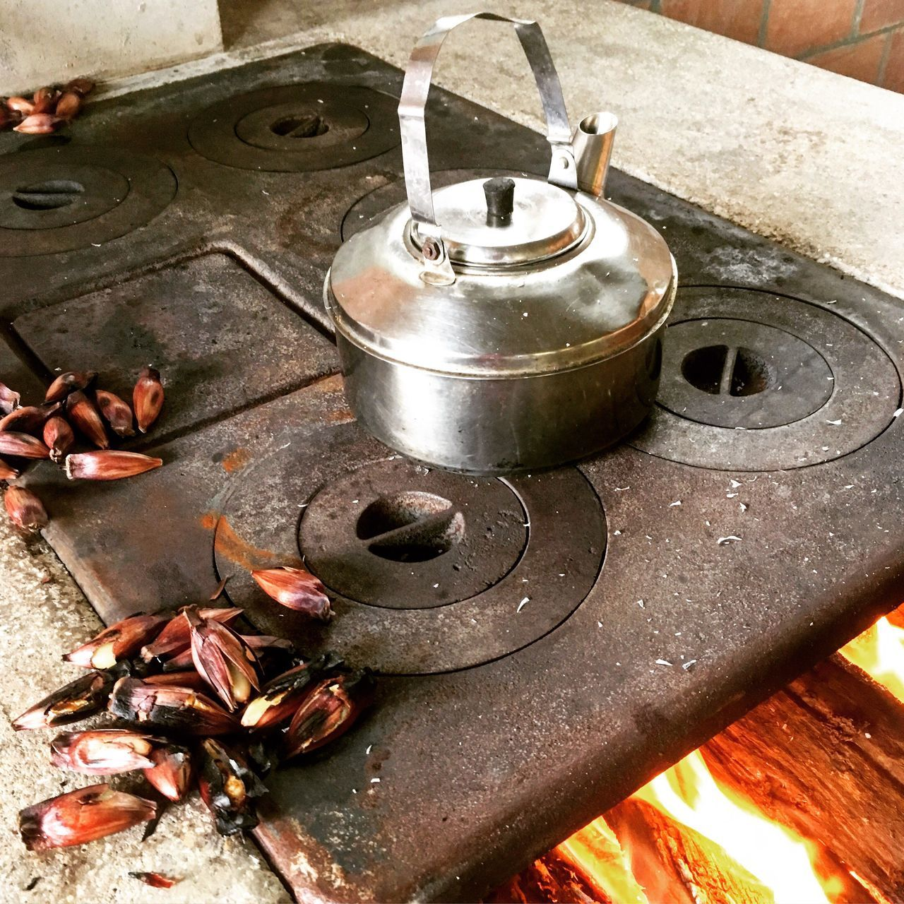 food and drink, high angle view, food, no people, indoors, day, close-up, stove, freshness