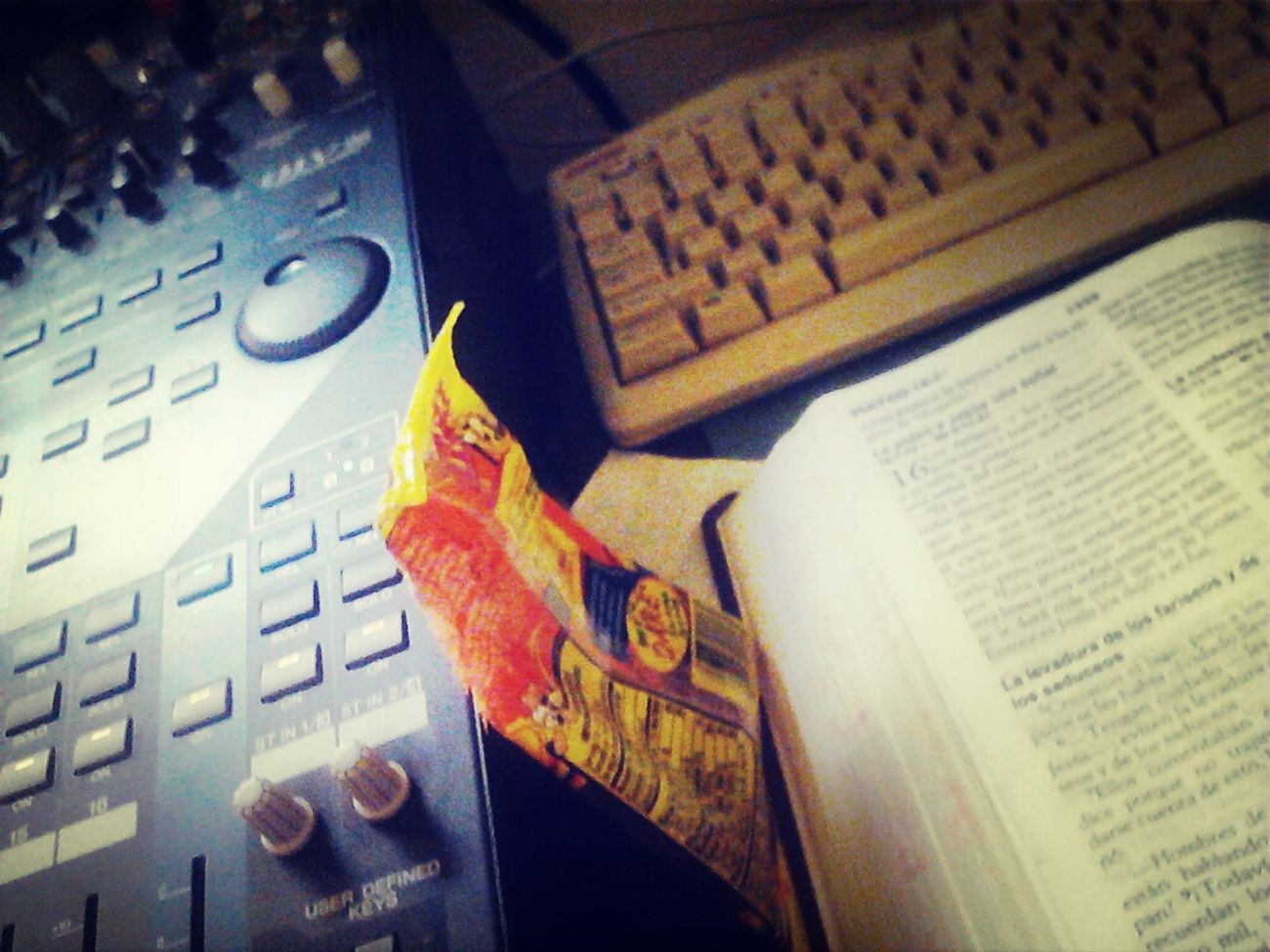 sound in the back of church, Bible, Candy candy candy lol