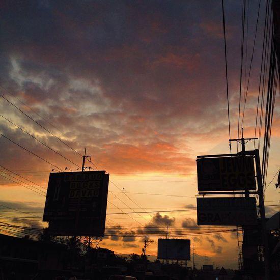 Nostalgic sunset, no filter. EyeEm Nature Lover Showcase March EyeEm Gallery Eyeem Philippines Iphonephotography Sunset Canopy Ember Serenity