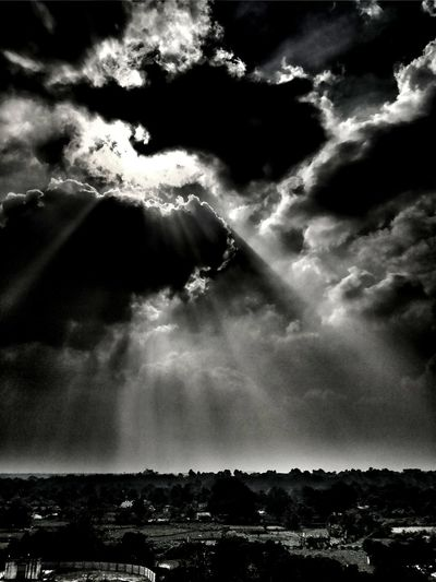 Dramatic Sky Cloud - Sky Nature Scenics Sky Weather Tranquility Illuminated Landscape Outdoors
