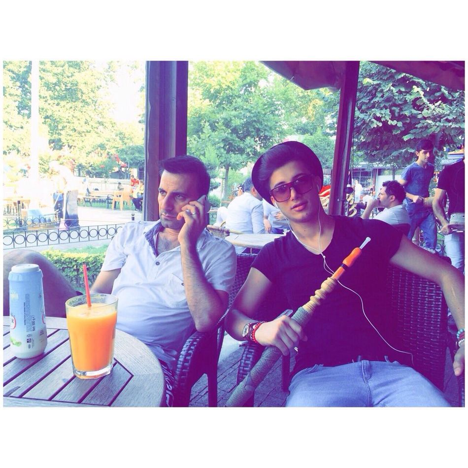 With My Lovely Brother Istanbul Turkya Muratpaşa Cafe Happy Day
