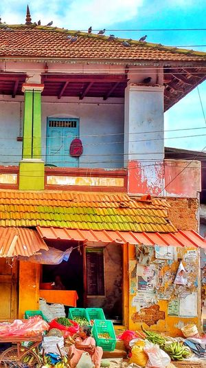 The Market place... Mobilephotography Motorolaphotography Motorolamotog Market Old Old Buildings Vivid Colours  Outdoors Architecture No People Day Built Structure Building Exterior Sky