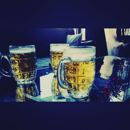 Beer Time Beer Pub ın The Pub Barculture Night Life Yellow And Red Beer Glasses Table Enjoying Life Enjoying Moment Hello World Break Time Traveling Different Cultures Colorful Summertime Cafe Culture