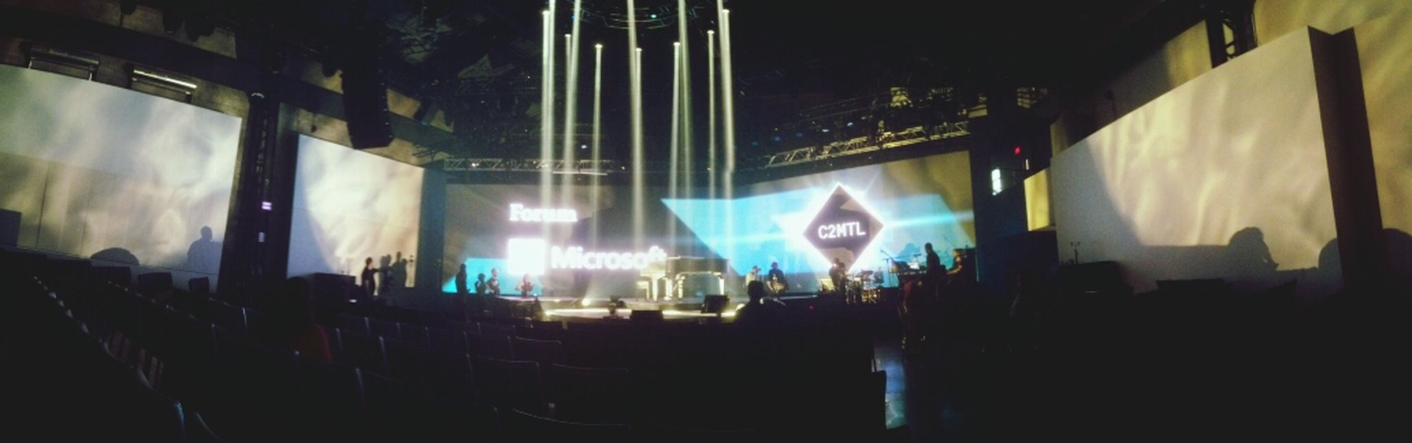 The stage of C2MTL Conference Montreal, Canada