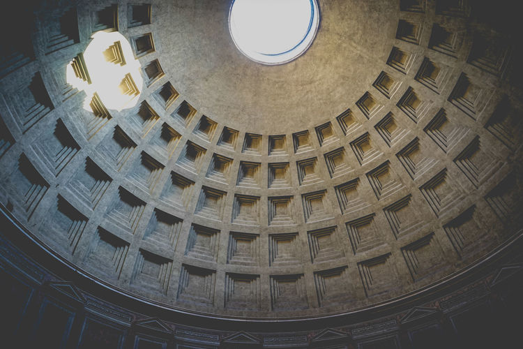 Concrete circular cella of Panthenon in Rome Gold Colored No People Dome Indoors  Day Peaceful Quiet Rome Pantheon Pantheon Rome Rome Atmosphere Temple Concrete Ancient Cella The Architect - 2017 EyeEm Awards