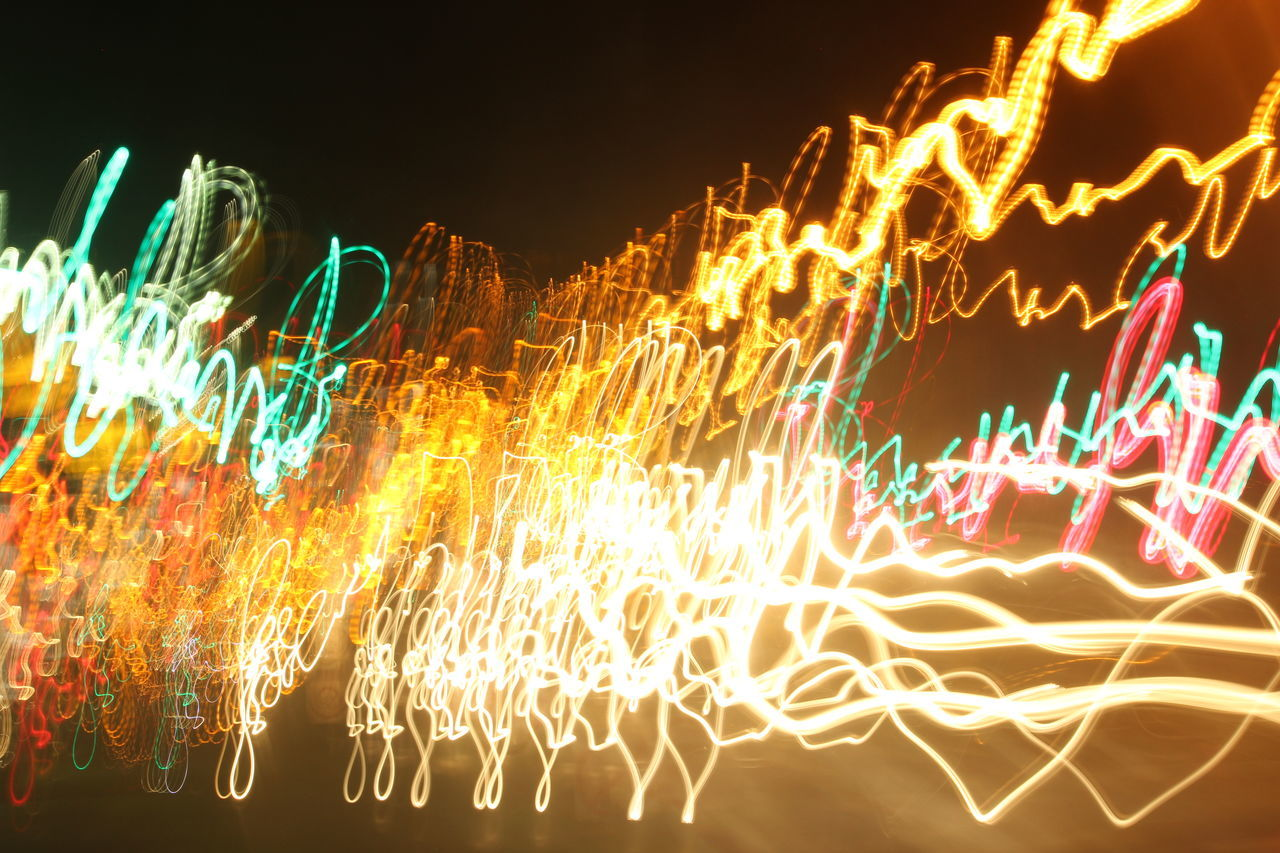 Glowing Illuminated No People Multi Colored Night Tail Lights Long Exposure Traffic Lights Playing With Long Exposure
