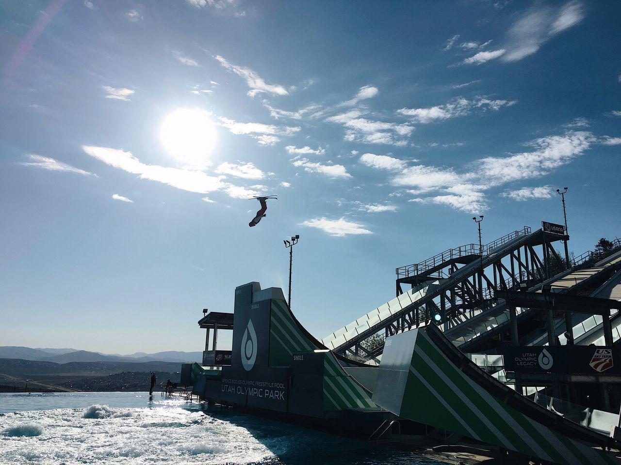 practice. olympic ski jumping. Parkcityutah