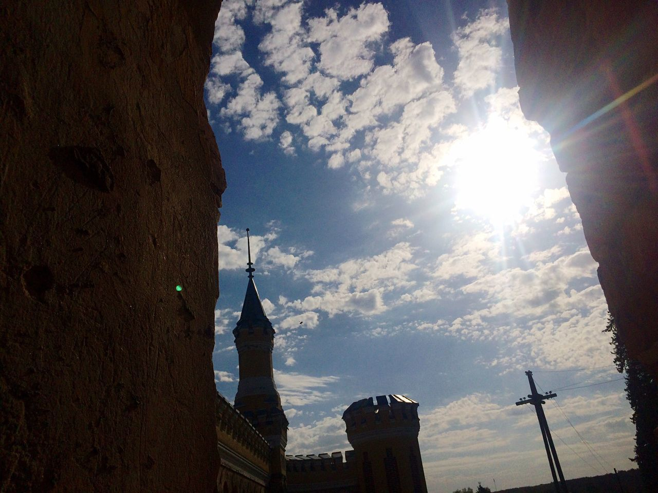 Sky Architecture Sunlight Built Structure Low Angle View Building Exterior Sunbeam Lens Flare Cloud - Sky No People Sun Travel Destinations Outdoors Spirituality Place Of Worship Day Nature