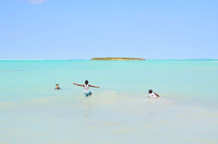People Sea Water Beach Scenics Nature Beauty In Nature Horizon Over Water Clear Sky Day Outdoors Blue Sky Real People Vacations Swimming Turks And Caicos Turks And Caicos Islands Caribbean Be. Ready.
