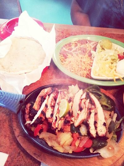 Thanks to double early release eating at don pablos with my favorite lady @waitnonhim