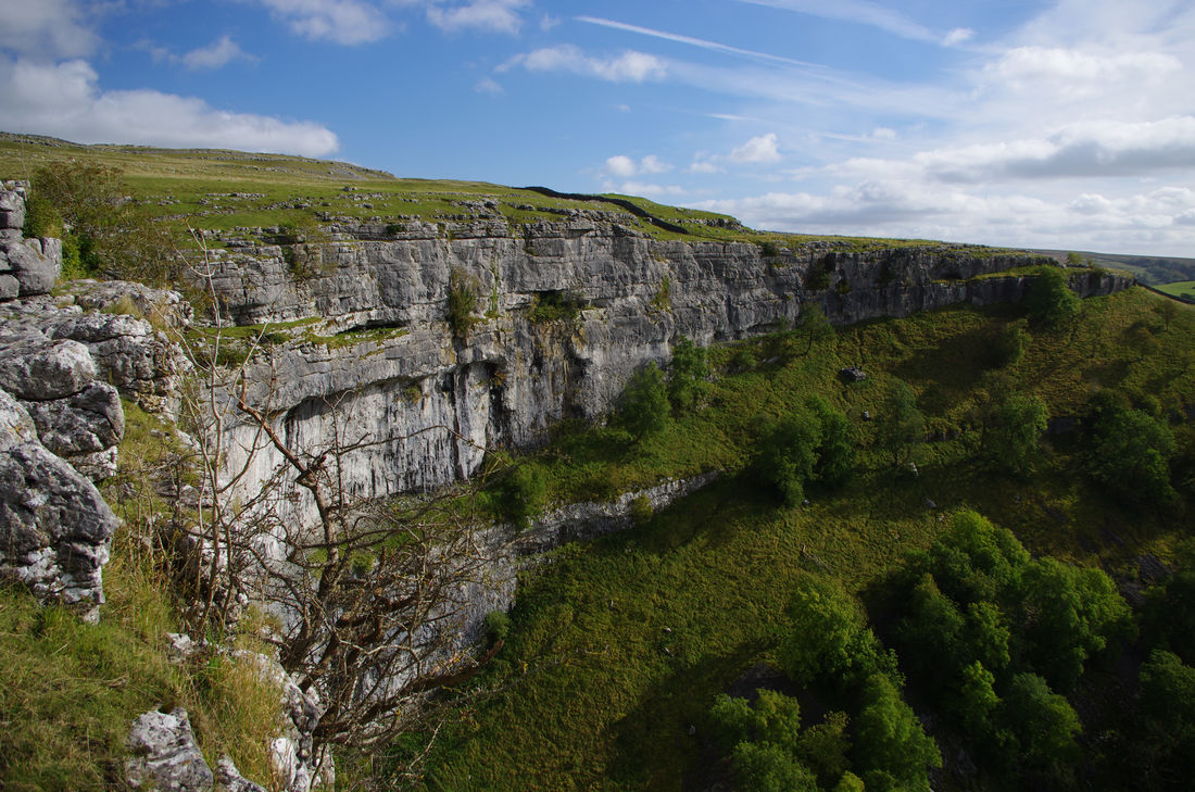 Beauty In Nature Cliff Cloud - Sky Cove Day Hiking Landscape Limestone Malham Malham Cove Nature No People Outdoors Sky Travel Destinations Tree Yorkshire Yorkshire Dales